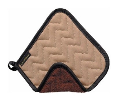San Jamar 802TF Pot Holder, 8 x 8-in, Fire Retardant & Quilted Terry Cloth
