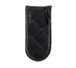 San Jamar 804BG-BK Handle Holder, 3.5 x 6.5-in, Quilted Fire Retardant, Black