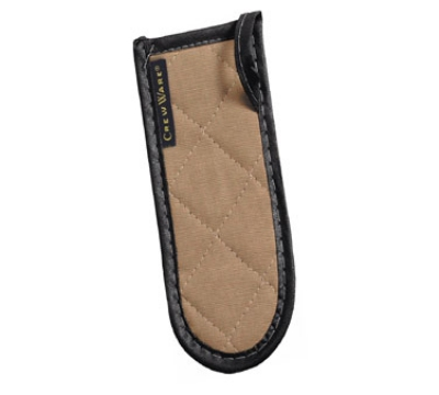 San Jamar 804BG Handle Holder, 3.5 x 6.5-in, Quilted Fire Retardant, Tan