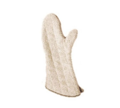 San Jamar 817TM-SB Terry Oven Mitt, 17-in, Heavy Duty, Steam Barrier, Tan