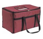 San Jamar FC2212-MRN Insulated Food Carrier, Heavy Vinyl Exterior, Burgundy