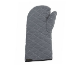 San Jamar OM17-GYW Oven Mitt, Cotton Exterior w/ Wool Interior, 17-in, Grey