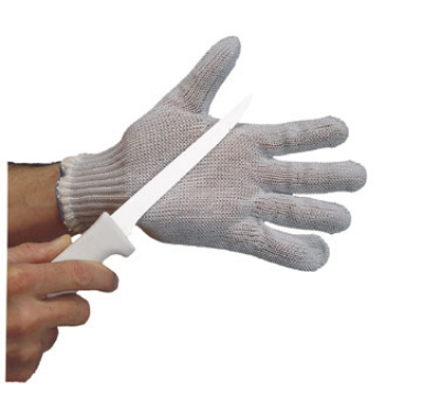 San Jamar PBS301-M Wire Guard Butcher Glove w/ Cotton Liner, Ambidextrous, Medium