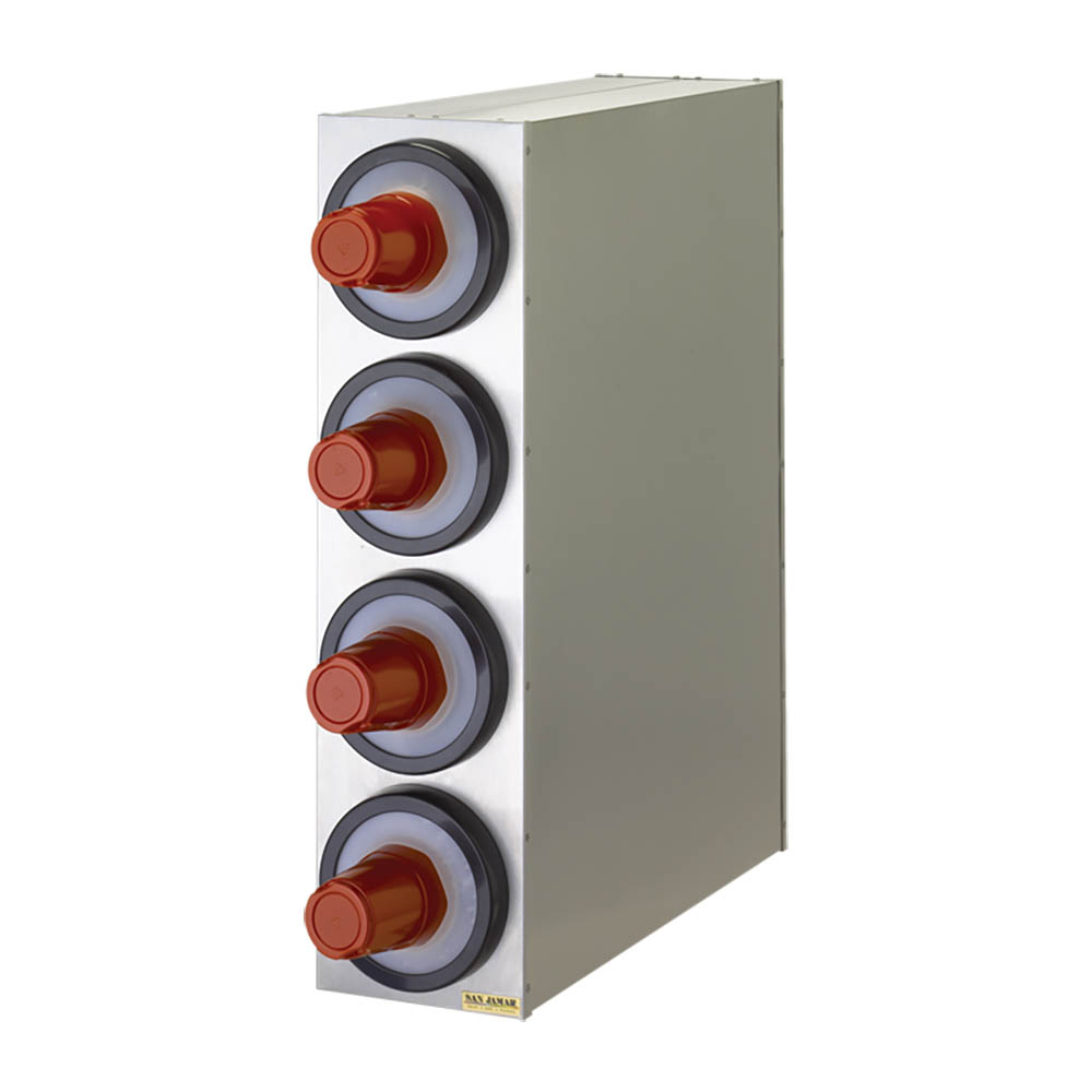 San Jamar C2804 EZ-Fit Box System, 4 One Size Fits All Dispensers, SS