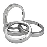 San Jamar C54XC In-Counter Trim Ring for C5450CC, 7.06-in Dia, Metal Finish