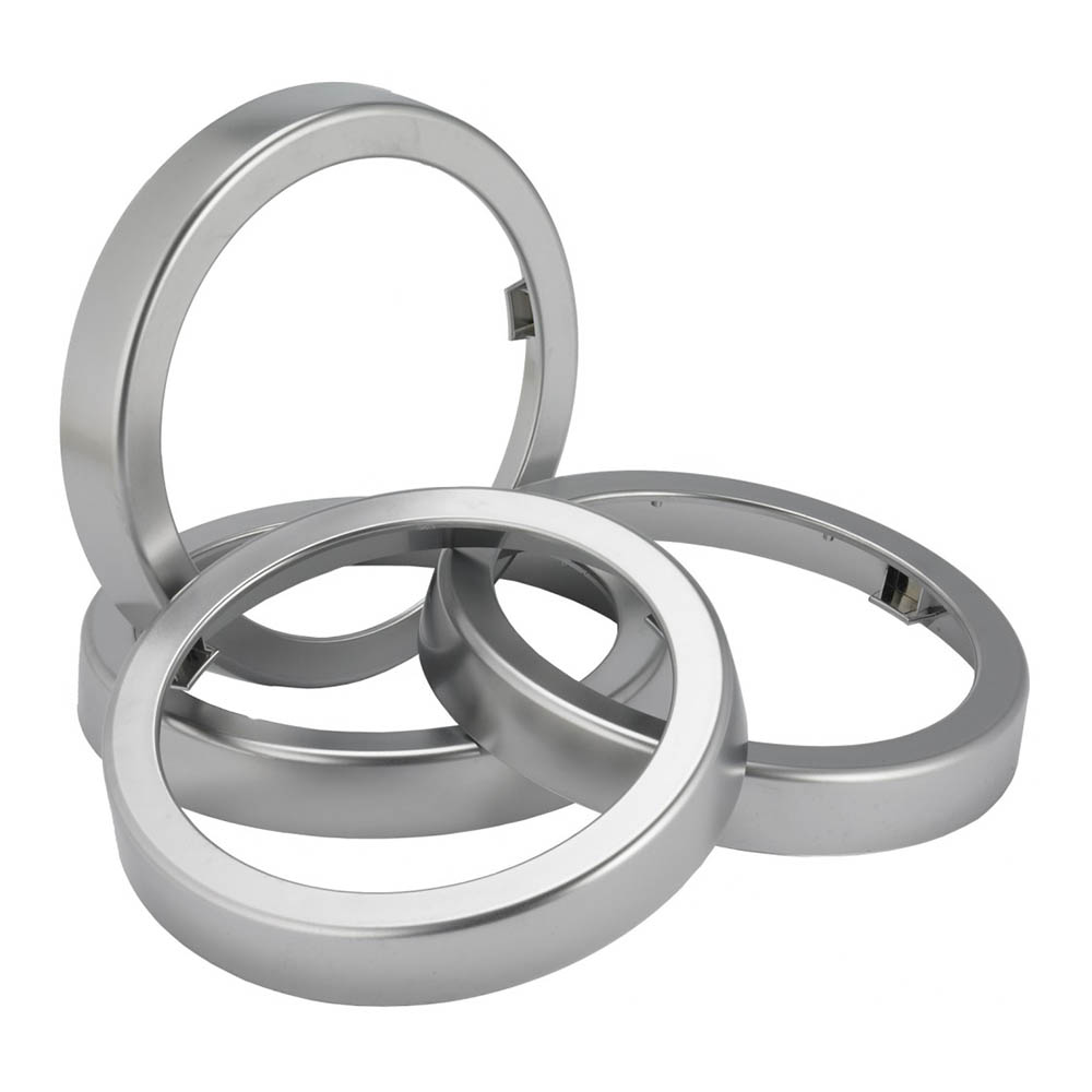 "San Jamar C54XC In-Counter Trim Ring for C5450CC, 7.06"" Dia, Metal Finish"