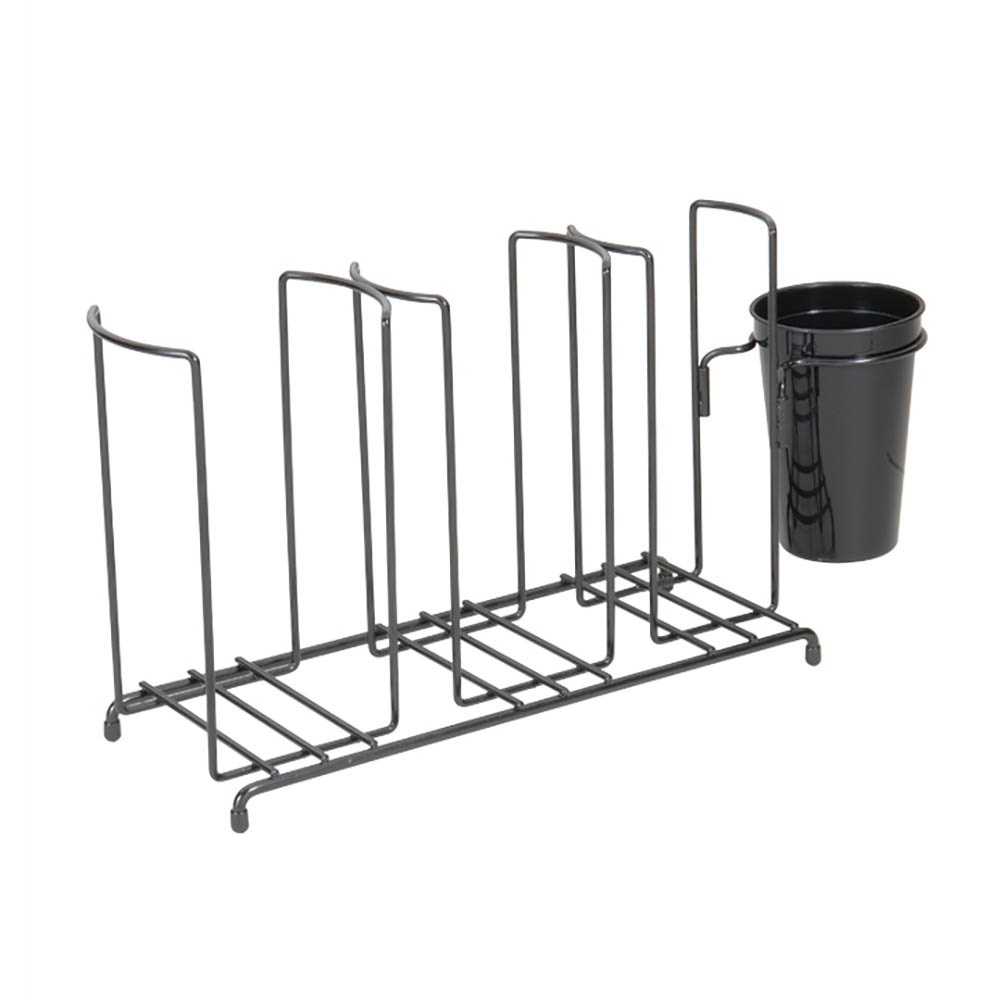 San Jamar C8003WFS Cup Lid Organizer w/ Caddy, 3-Stacks & 15 x 5.75 x 9.25-in Wire