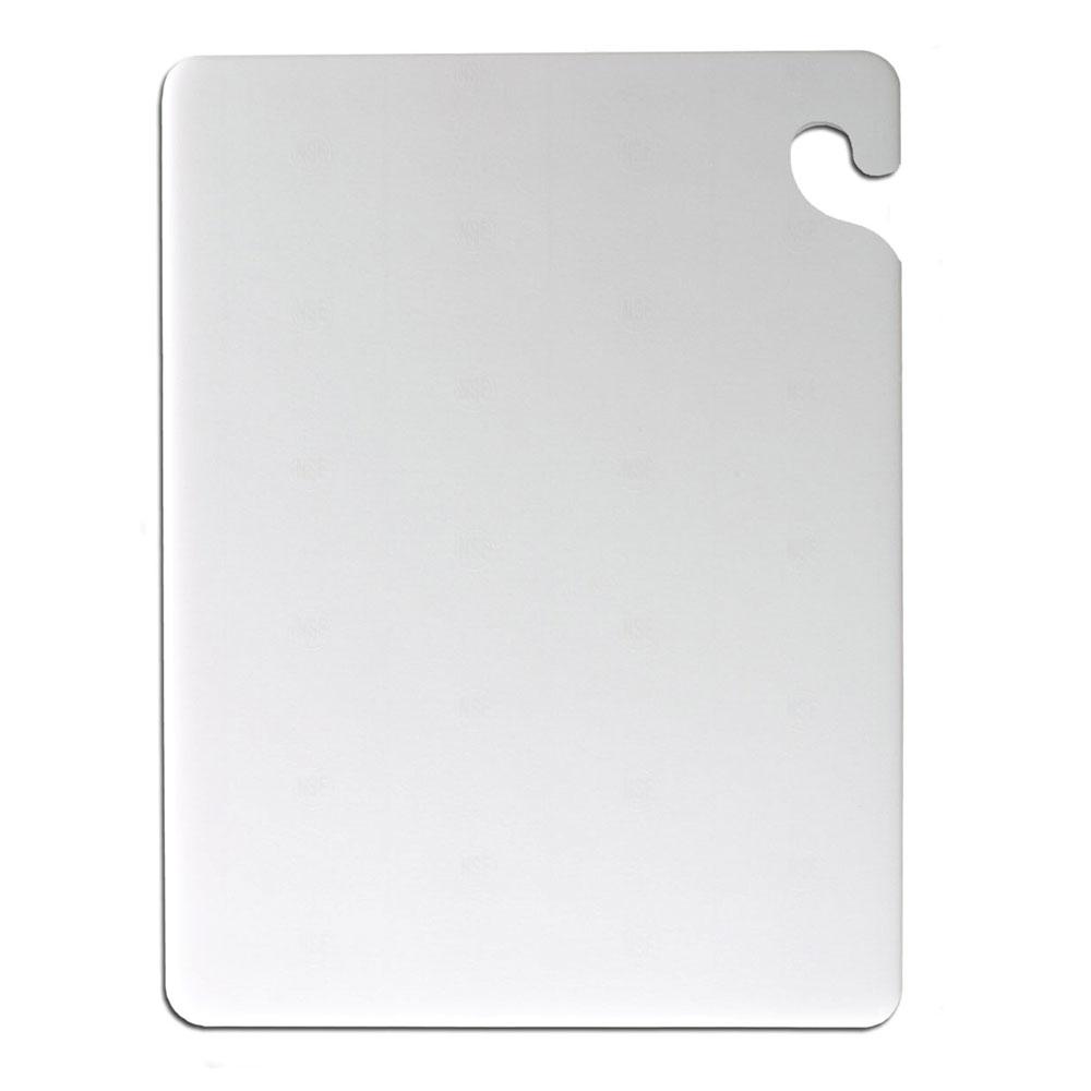 San Jamar CB101212WH KolorCut Cutting Board, 10 x 12 x 1/2 in, NSF, White