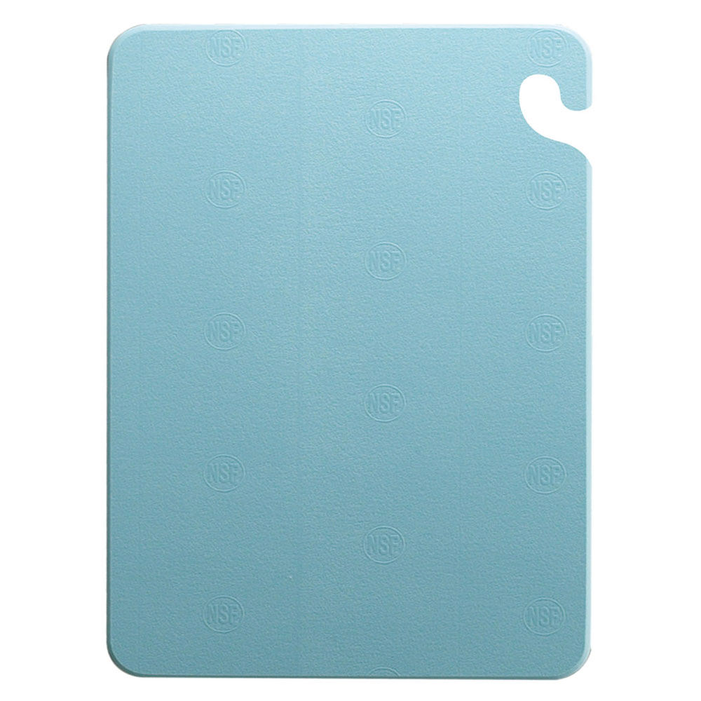 San Jamar CB121812BL Cut-N-Carry Cutting Board, 12 x 18 x 1/2 in, NSF, Blue