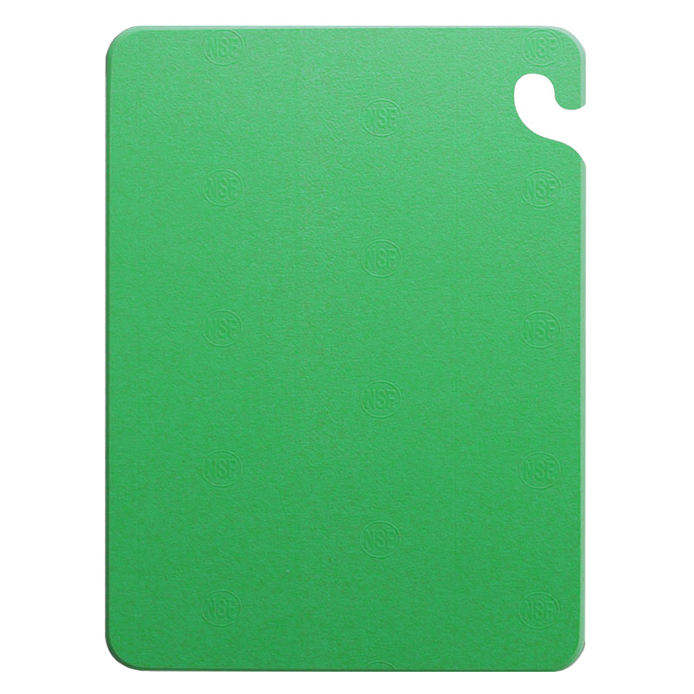 San Jamar CB121812GN Cut-N-Carry Cutting Board, 12 x 18 x 1/2 in, NSF, Green