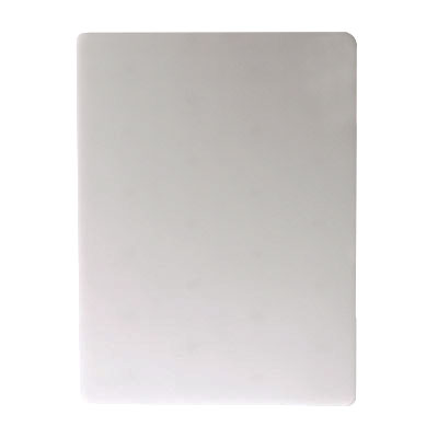 San Jamar CB12181WH KolorCut Cutting Board, 12 in x 18 in x 1 in, White, NSF