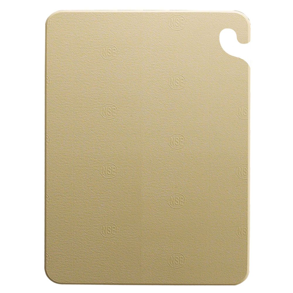 San Jamar CB121834BR Cut-N-Carry Cutting Board, 12 x 18 x 3/4 in, NSF, Brown