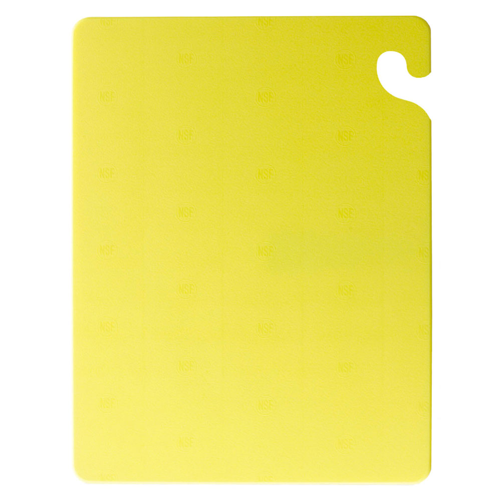 San Jamar CB121834YL Cut-N-Carry Cutting Board, 12 x 18 x 3/4 in, NSF, Yellow