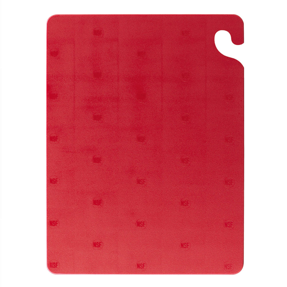 San Jamar CB152012RD KolorCut Cutting Board, 15 x 20 x 1/2 in, NSF, Red