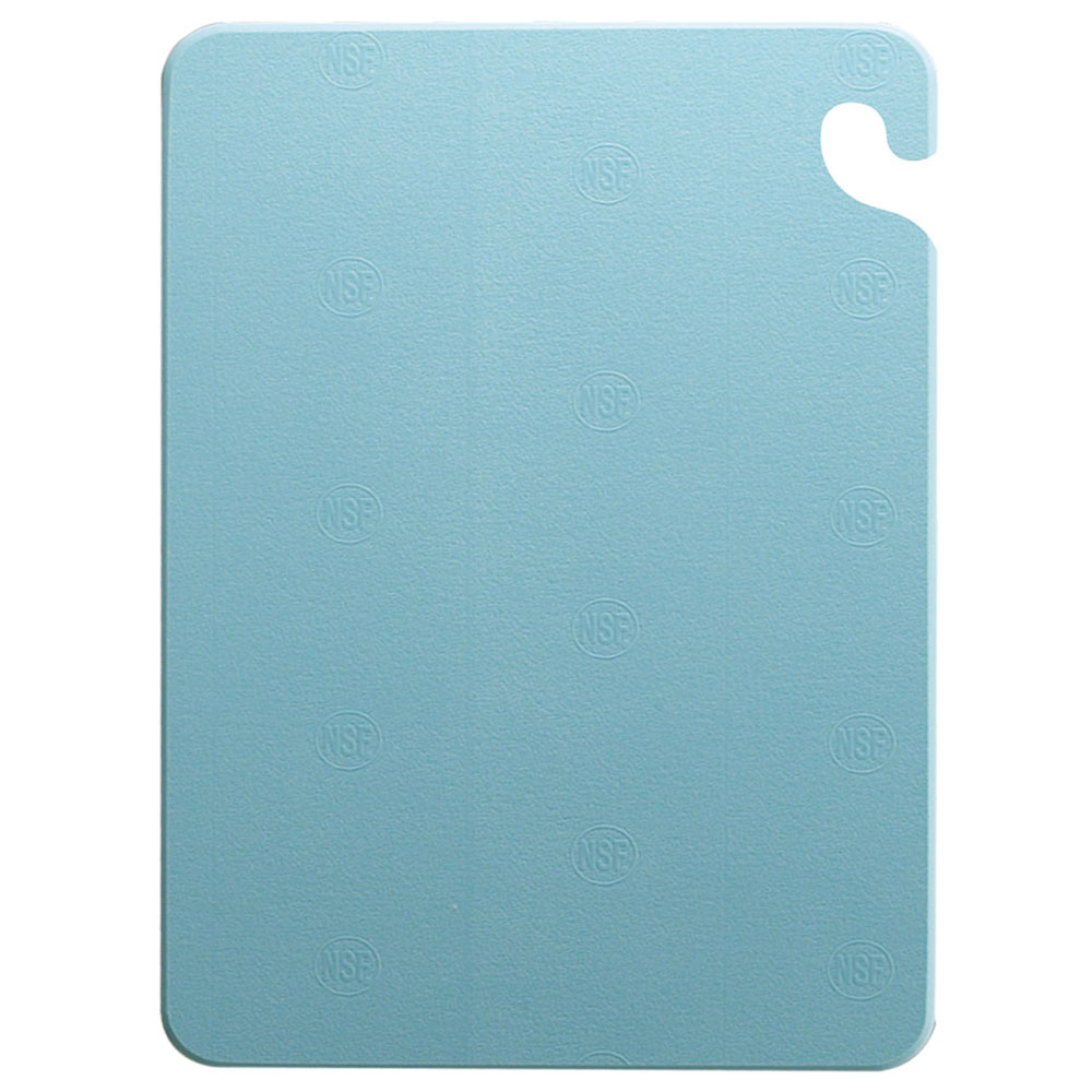 San Jamar CB182434BL Cut-N-Carry Cutting Board, 18 x 24 x 3/4 in, NSF, Blue