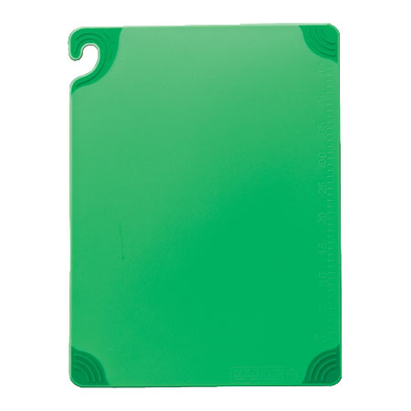 San Jamar CBG152012GN Saf-T-Grip Cutting Board, 15 x 20 x 1/2 in, NSF, Green