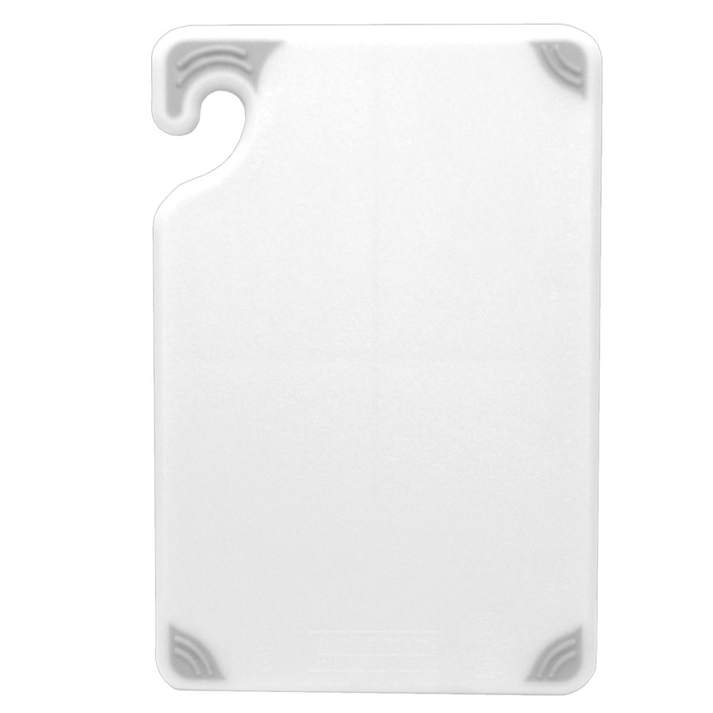 San Jamar CBG152012WH Saf-T-Grip Cutting Board, 15 x 20 x 1/2 in, NSF, White