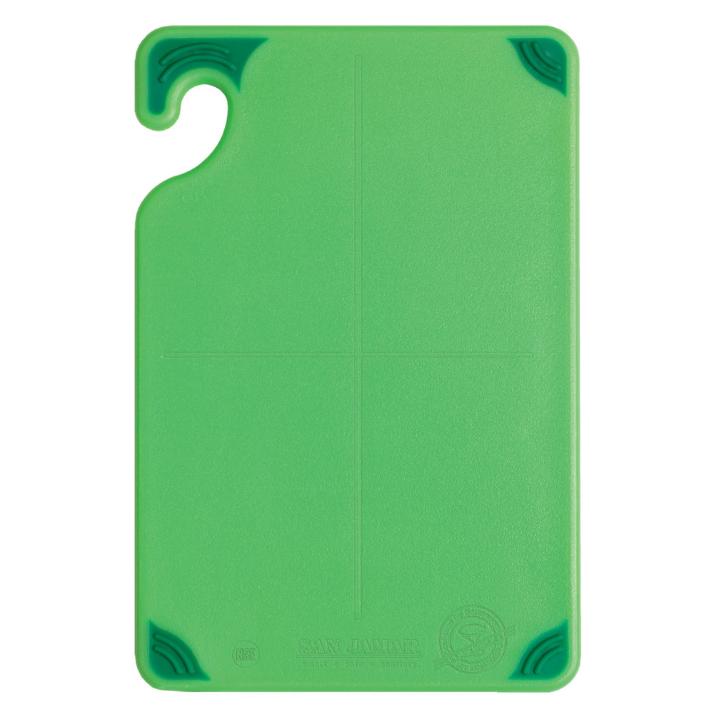 San Jamar CBG6938GN Cutting board, 6 x 9 x 3/8-in, Green
