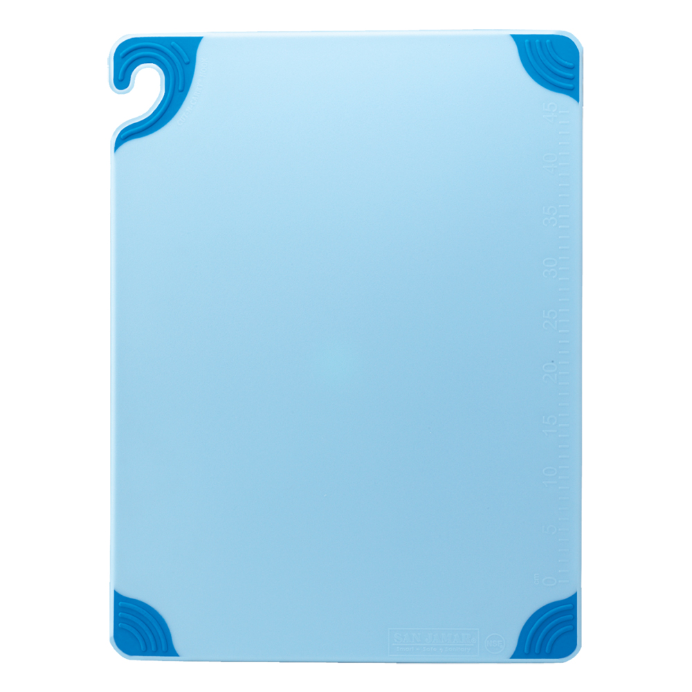 San Jamar CBG912BL Saf-T-Grip X-Pediter Cutting Board, 9 x 12 x 3/8 in, NSF, Blue