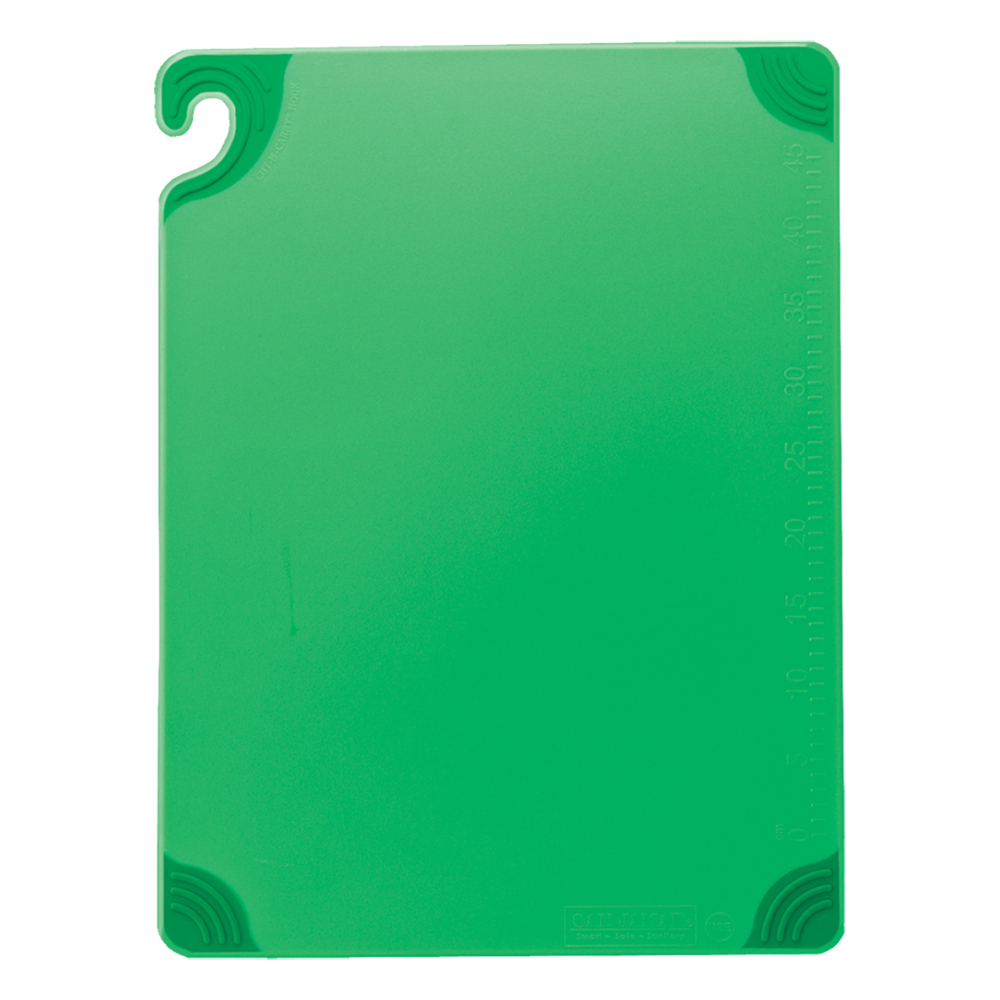San Jamar CBG912GN Saf-T-Grip X-Pediter Cutting Board, 9 x 12 x 3/8 in, NSF, Green