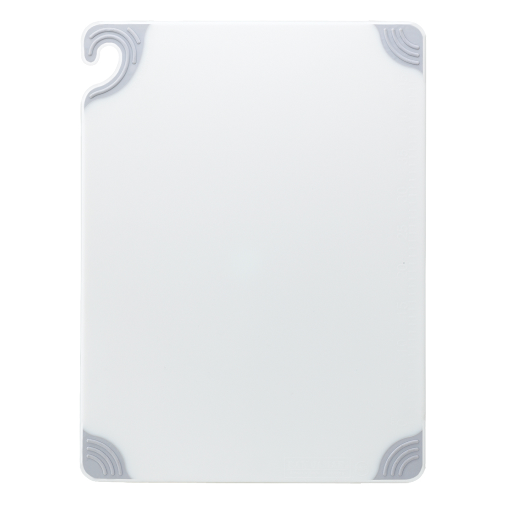 San Jamar CBG912WH Saf-T-Grip X-Pediter Cutting Board, 9 x 12 x 3/8 in, NSF, White