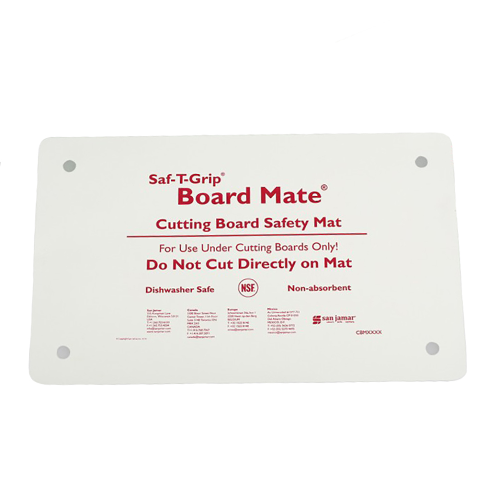 San Jamar CBM1016 Cutting Board-Mate, 10 in x 16 in, Non-Absorbent Synthetic Rubber, NSF