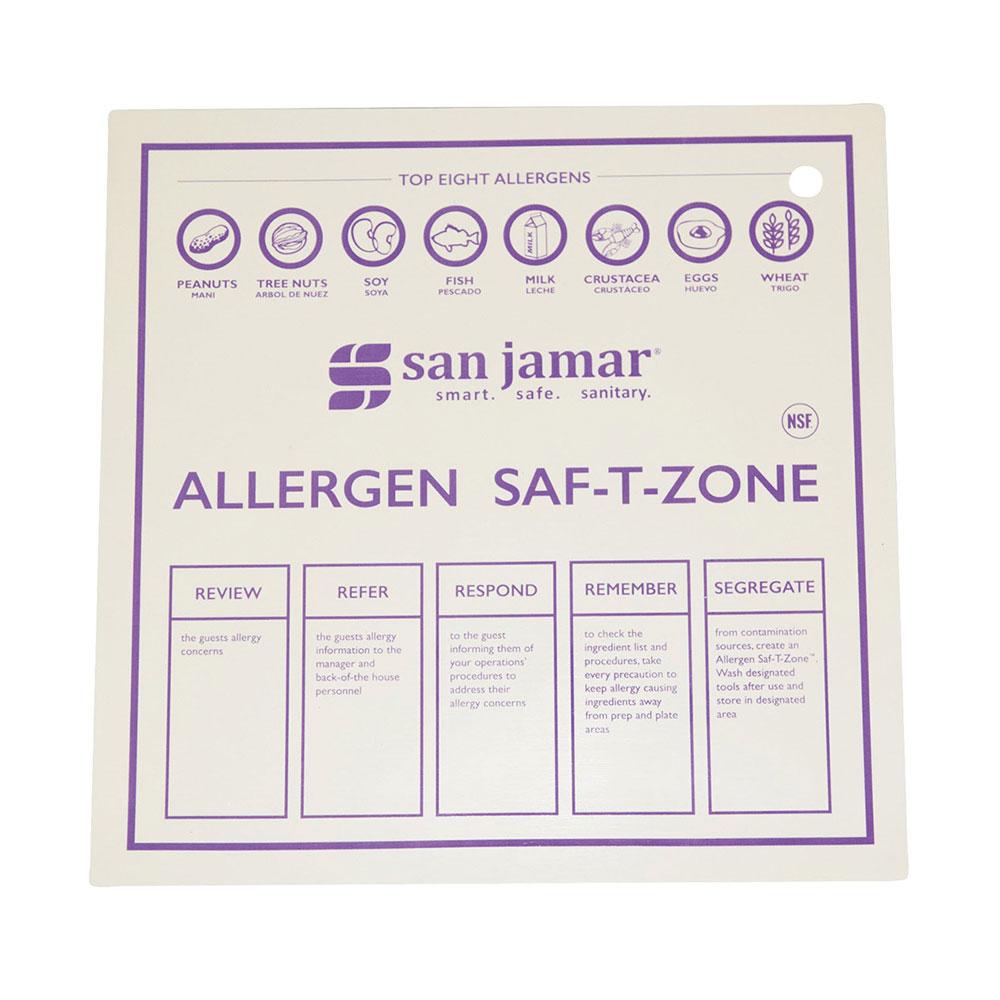"""San Jamar CBMASZ1212 12"""" x 12"""" Allergen Mat - Dishwasher Safe"""