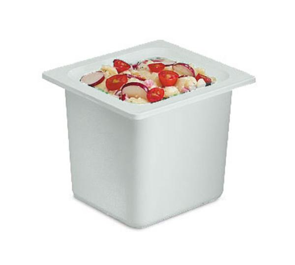 San Jamar CI7001WH 1/6-Size Refrigerant Filled Food Pan, 6-in Deep, White
