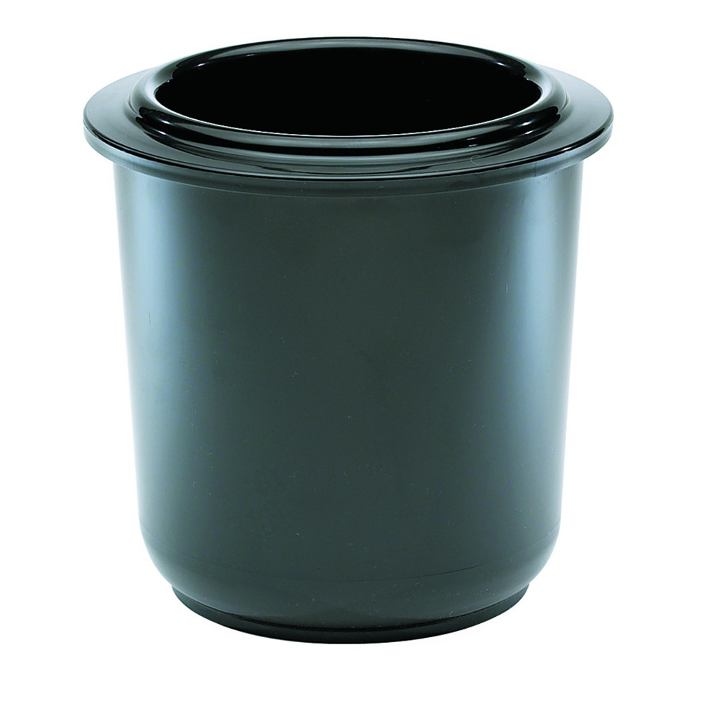 "San Jamar CI7015BK Chill-It Refrigerant Filled Crock - 2 qt, 6"" Deep, Black"