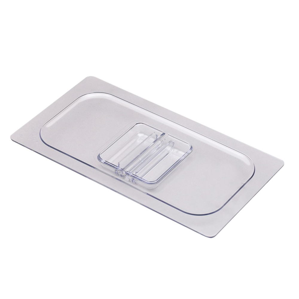 San Jamar CI7114L Chill-It Food Pan Lid - 1/2 Size, Clear