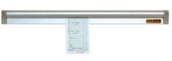 "San Jamar CK6518A Slide Check Rack, 18"" Long, Aluminum"
