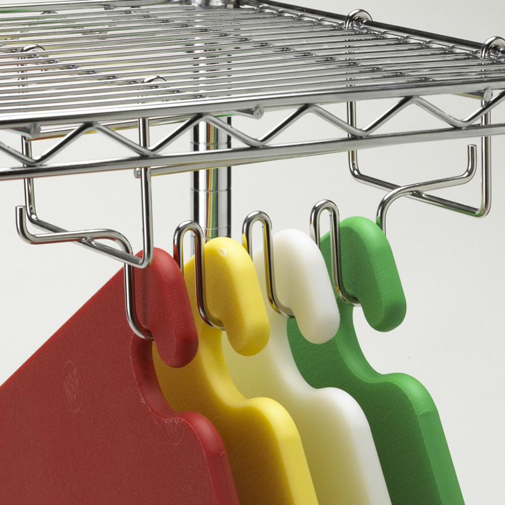 San Jamar CNCRK Cut-N-Carry Cutting Board Hanging Rack for Wire Shelving