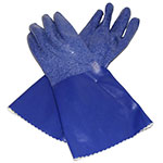 "San Jamar CP14-S 14"" Small Gloves w/ Cotton Lining - Nitrile, Blue"