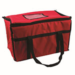 "San Jamar FC2212-RD Insulated Food Carrier - 22"" x 12"", Nylon, Red"