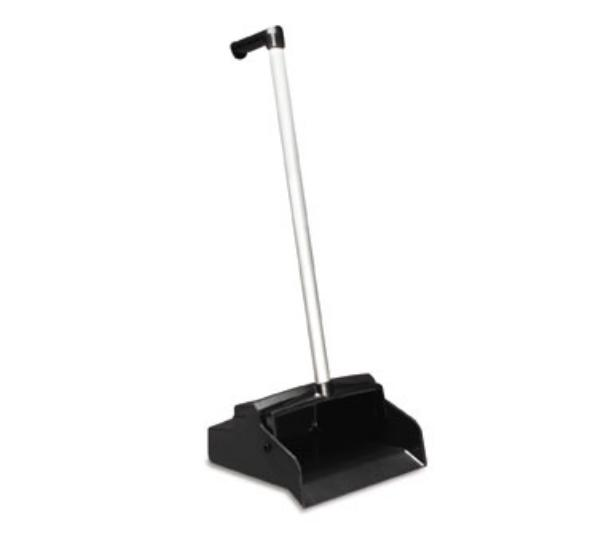 San Jamar FC2602 L-Grip Dust Pan, 32 in H x 11 in D, Light Weight, Aluminum Handle
