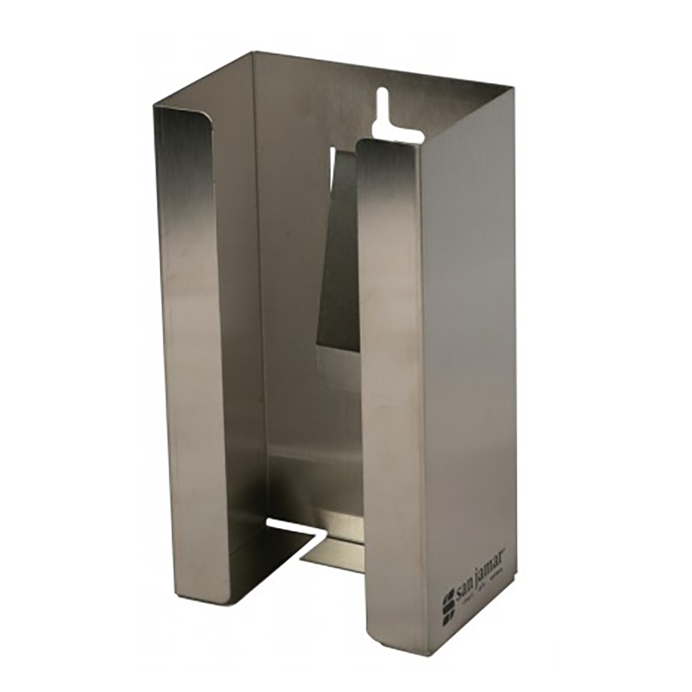 San Jamar G0801 Stainless Steel Disposable Glove Dispenser  (1 box cap.)