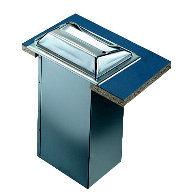 San Jamar H2000XC In-Counter 750 Minifold Napkin Dispenser, Matte Chrome & Stainless