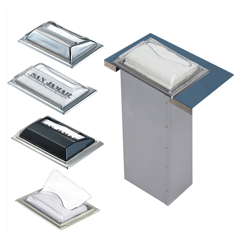 San Jamar H2005CLSS In-Counter 750 Fullfold Napkin Dispenser, Clear & Steel