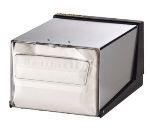 San Jamar H3001CLXC Countertop 300 Fullfold Napkin Dispenser, Clear & Chrome