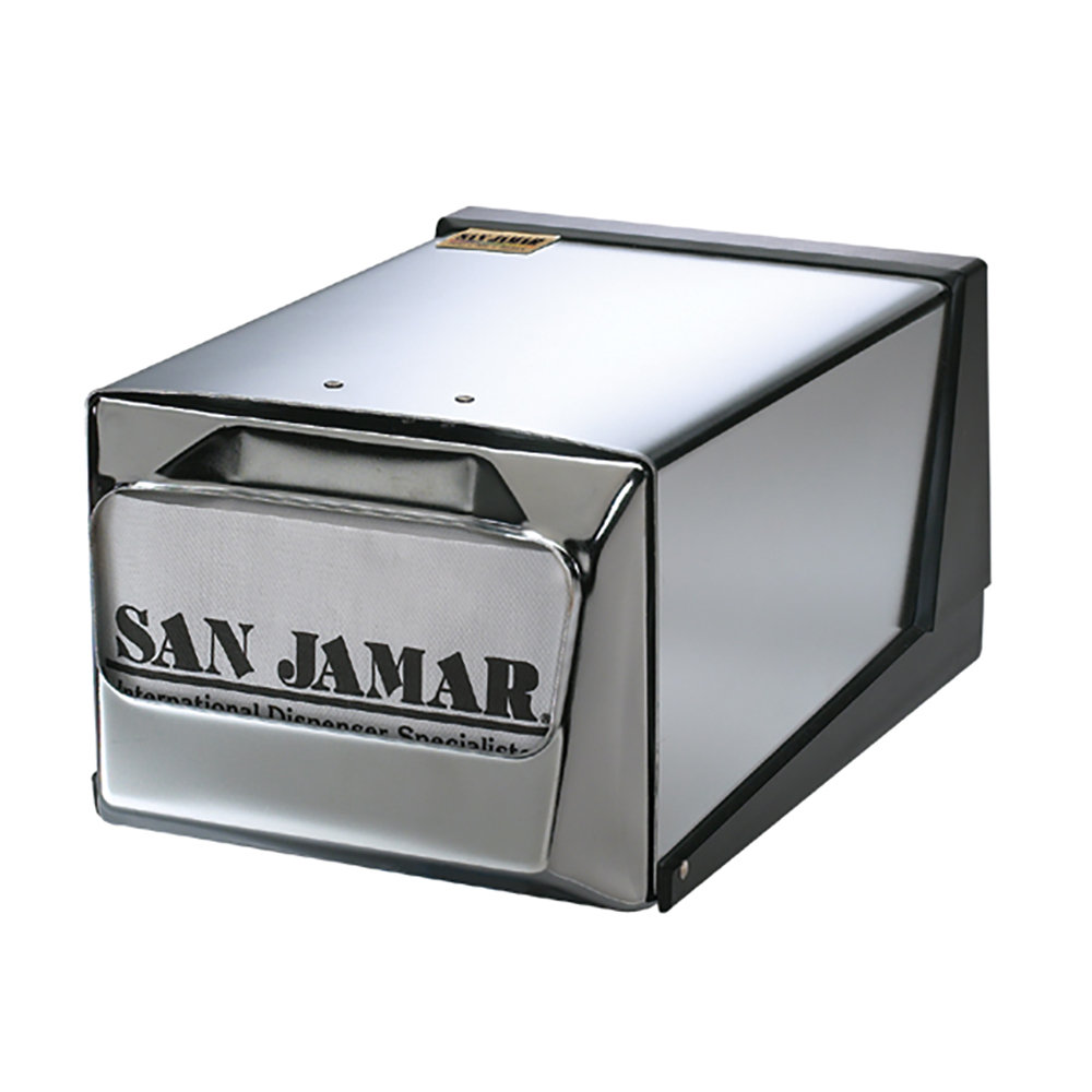 San Jamar H3001XC Countertop 300 Fullfold Napkin Dispenser, Chrome & Steel