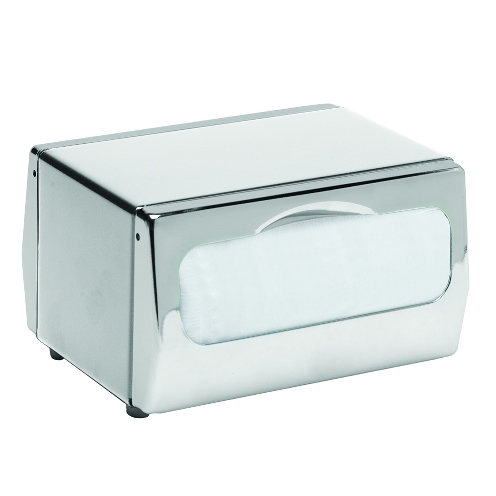 San Jamar H4000XC Tabletop 170 Minifold Napkin Dispenser - Two-Sided, Chrome & Stainless