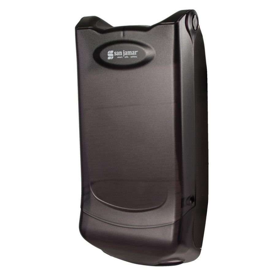 San Jamar H5004PTBK Wall Mount 550 Mini-Interfold Napkin Dispenser, Black Pearl