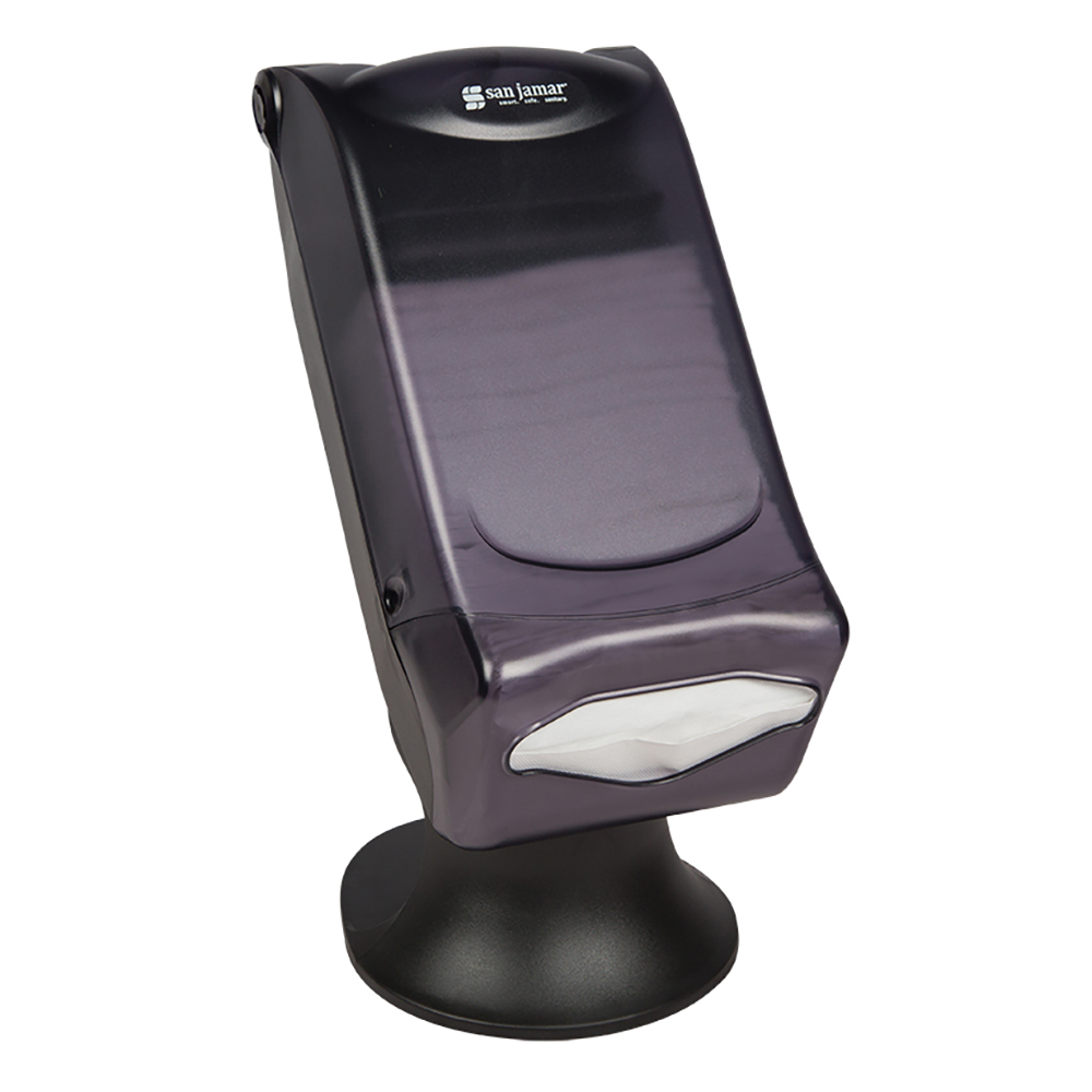 San Jamar H5005STBK Venue Napkin Dispenser With Stand, Fullfold Control, 600 Capacity, Black Pearl
