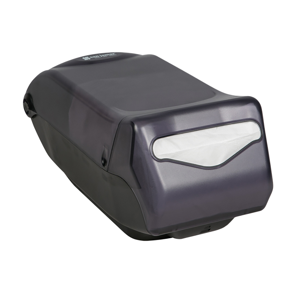 San Jamar H5005TBK Countertop 450 Fullfold Napkin Dispenser, Black Pearl