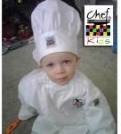 San Jamar JB001 Kid's Chef's Jacket - 18-24 Months, Cotton, White