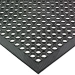 San Jamar KM1100 K-Mat Bar Mat, Rubber, Anti-Slip, 3' x 5', Grease-Resistant, Black
