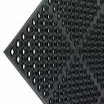 San Jamar KM2100B K-Mat Bar Mat, Anti-Slip, 36 x 60 x 3/4 in Thick, Bullnose Edge, Black
