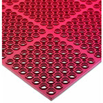 "San Jamar KM2200B Rubber Kitchen Mat, Anti-Slip, Grease Proof, 36 x 60"", Bagged, Red"