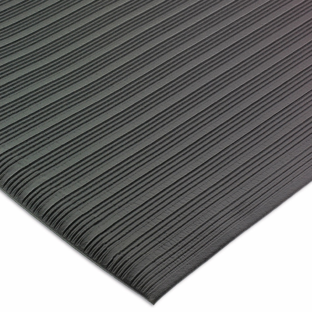 San Jamar KM4360BK Sponge Floor Runner, Vinyl, 3 x 60-ft x 3/8-in, Black