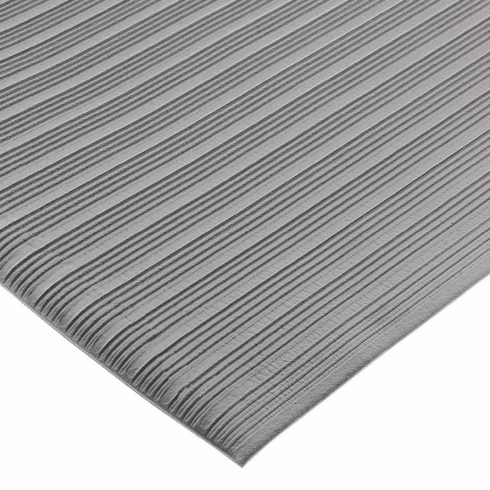 San Jamar KM4360GY Sponge Floor Runner, Vinyl, 3 x 60-ft x 3/8-in, Gray